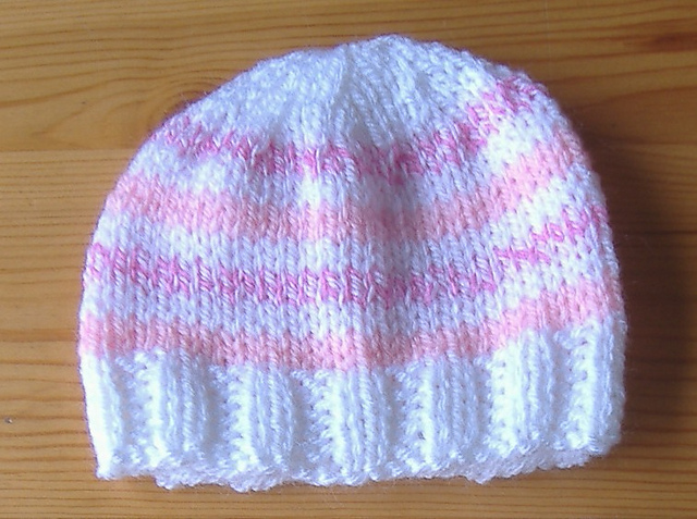 Ravelry Easy Stripes Premature Baby Hat Pattern By Marianna Mel