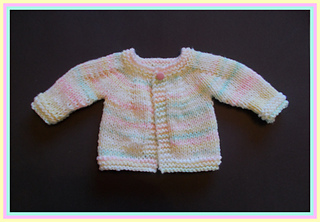 b70fb2809 Ravelry  Perfect Top Down Baby Jacket - Chunky Yarn pattern by marianna mel