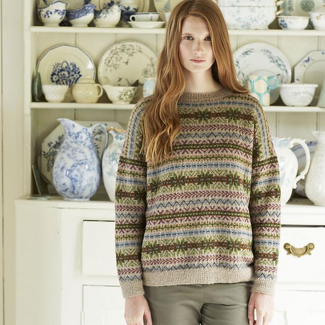 Ravelry Finch Fairisle Sweater Pattern By Marie Wallin