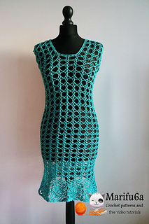 Ravelry Crochet Summer Dress Pattern By Marifu6a
