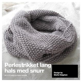c30c6cde Ravelry: Perlestrikket lang hals med snurr pattern by Marte Helgetun
