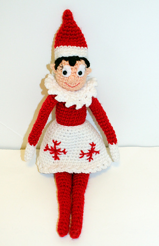 Knitting Pattern For Elf On The Shelf : Ravelry: Holiday Shelf Elf Crochet Doll pattern by Mary Smith