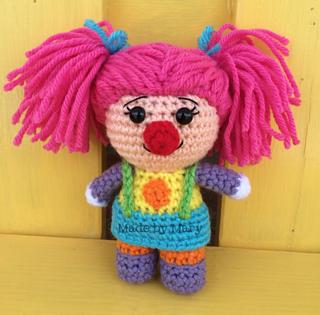 Amigurumi Mini Doll Pattern : Ravelry: Clown Girl Mini Doll Amigurumi pattern by Mary Smith