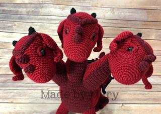 Three Headed Dragon Amigurumi Pattern By Mary Smith