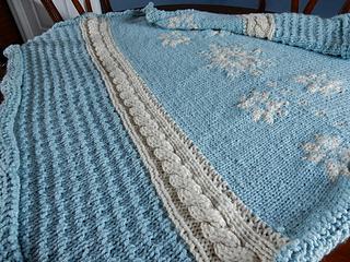 Ravelry  Snowflakes and Icicles Blanket pattern by Mary Beth Petrone c7685fbf6