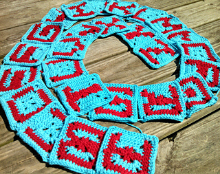 Ravelry alphabet granny square letters pattern by mary walker mary walker altavistaventures Images