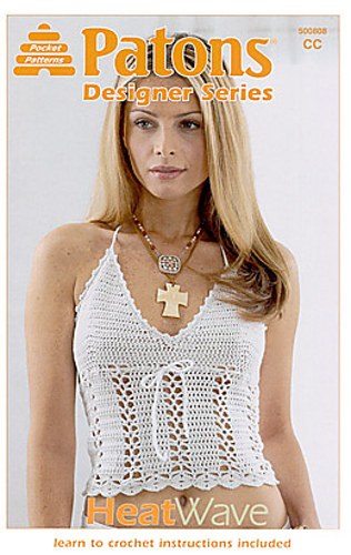Ravelry White Hot Halter Pattern By Patons