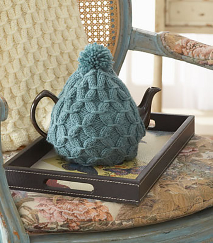 Ravelry Cushy Smocked Throw And Tea Cozy Tea Cozy Pattern By