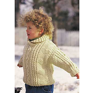 c7be607d5b163a Ravelry  Cables and Hearts Child s Pullover pattern by Patons
