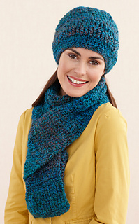 Ravelry Ridged Hat And Scarf L20307 Hat Pattern By