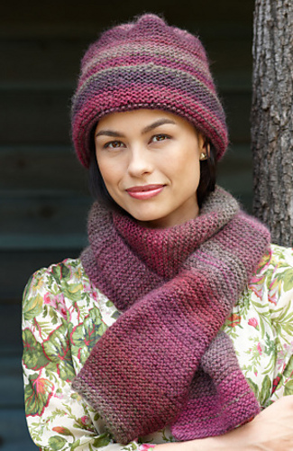 Ravelry Striking Hat And Scarf Scarf Pattern By Lion