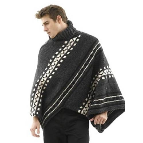 Ravelry: Alaska Poncho and Hat: Man\'s Version pattern by Lion Brand Yarn