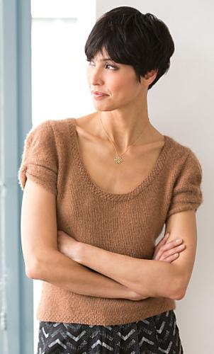 Ravelry: Cap Sleeve Top pattern by Lion Brand Yarn