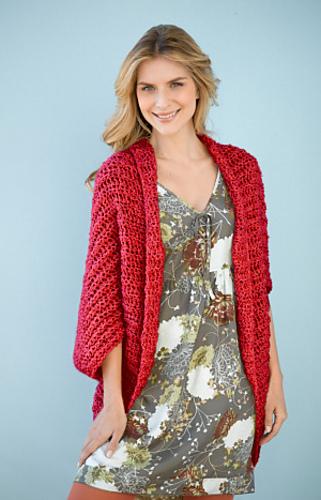 Ravelry Simple Crochet Shrug 90689 Pattern By Lion Brand Yarn