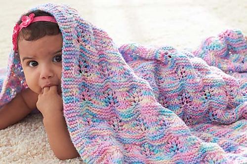 Ravelry Baby Ripple Afghan Pattern By Bernat Design Studio