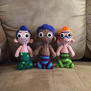 Goby the Mermaid Bubble Guppies pattern by Melissa Pembrook