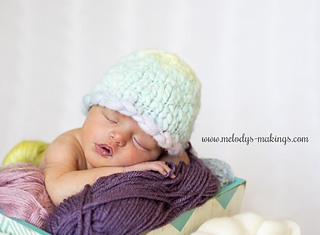 a6ad8157b77 Ravelry  Basic Thick and Thin Beanie Knit pattern by Melody Rogers
