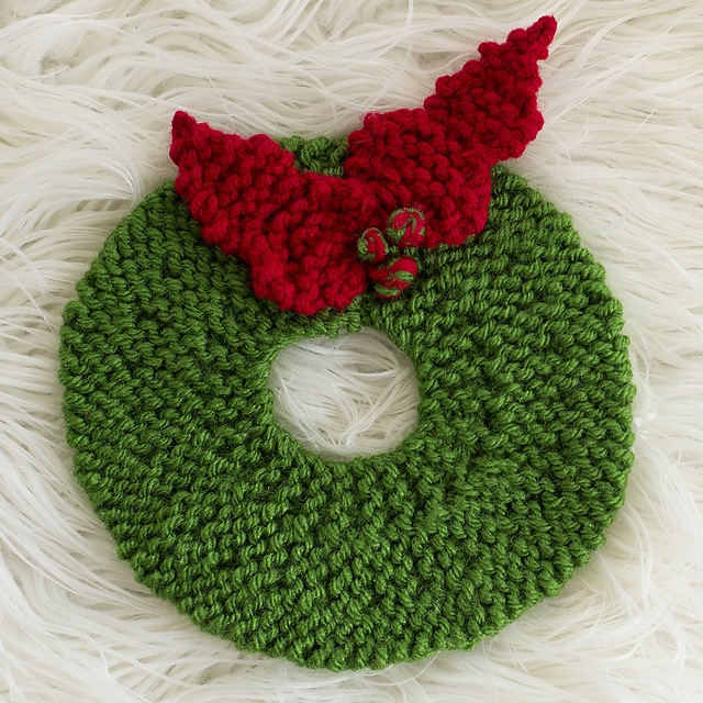 Ravelry Christmas Wreath Hot Pad Knit Version Pattern By Melody