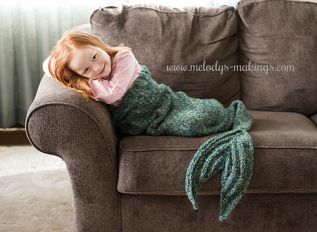 Ravelry Mermaid Tail Blanket Knit Pattern By Melody Rogers