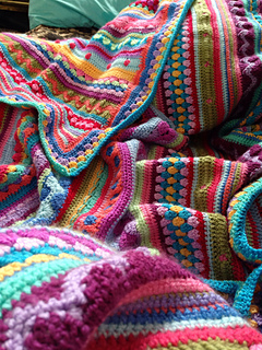 Ravelry Meowmmy65 S Mixed Stripey Blanket