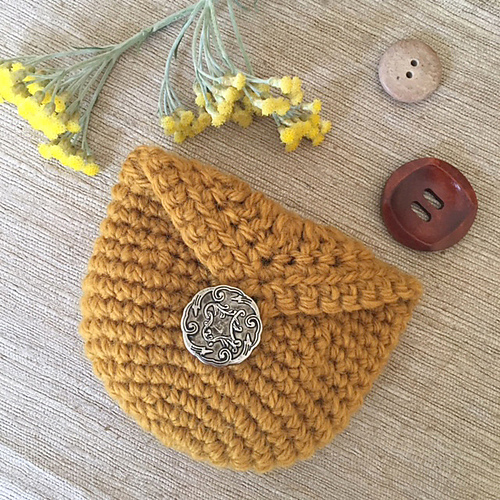 Ravelry Coin Purse With Button Pattern By Merrian Holland