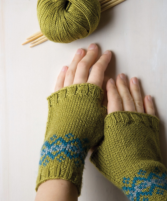 Ravelry: Fair Isle Fingerless Mitts pattern by Megan Goodacre
