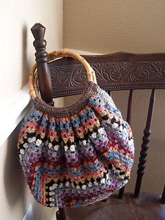 Pierrot Yarn Free Crochet Patterns : Ravelry: 29-210-44 Striped Bag pattern by Pierrot (Gosyo ...