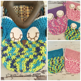 Ravelry: Sleepy Owl Car Seat Cozy pattern by MJ\'s Off The Hook Designs