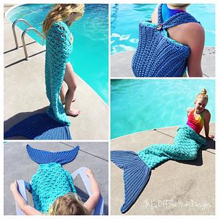 Ravelry: Mermaid Beach Bag Towel pattern by MJ's Off The Hook Designs