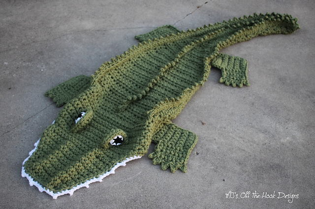 Ravelry Bulky Quick Alligator Blanket Pattern By Mjs Off The