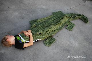 Free Crochet Pattern For Alligator Blanket : Ravelry: Bulky & Quick Alligator Blanket pattern by MJs ...