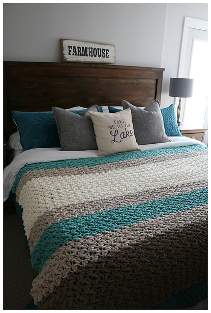 Ravelry Farmhouse King Size Blanket Pattern By Mjs Off The Hook