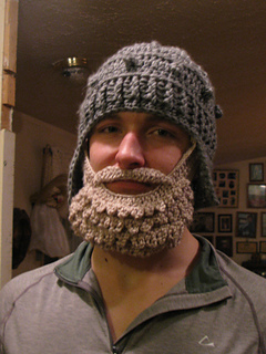 Ravelry Medieval Helmet Manly Man Beard Set Pattern By