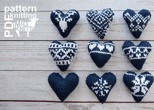 Ravelry: Knit Fair Isle Hearts pattern by Erin Black