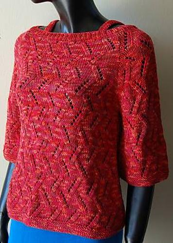1383470fa Ravelry  Raglan Sleeve Boat Neck Woman s Sweater pattern by Crystal ...