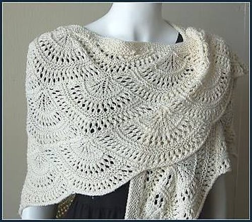 Ravelry Fan Shawl Dk Pattern By Gail Tanquary