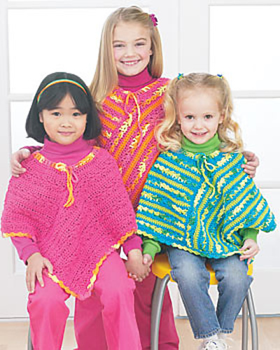 Ravelry Easy Ponchos Pattern By Bernat Design Studio