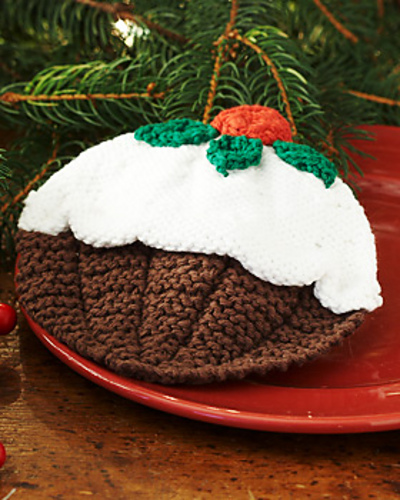 Ravelry Christmas Pudding Dishcloth Pattern By Lily Sugarn Cream