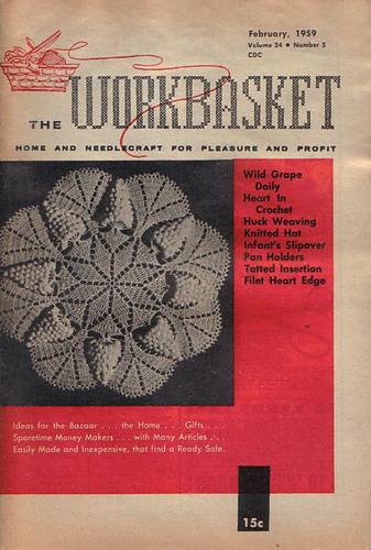 Ravelry Workbasket Magazine Vol 24 No 5 February 1959 Patterns