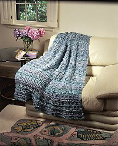 Ravelry Waterfall Throw Crochet Pattern By Lion Brand Yarn