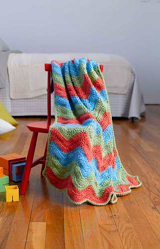 Ravelry Simple Ripple Baby Afghan Pattern By Lion Brand Yarn