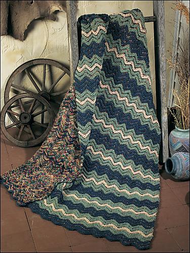 Ravelry Painted Desert Ripple Afghan Pattern By Darla J Fanton