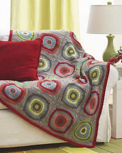 Ravelry Circles In Squares Blanket Pattern By Bernat Design Studio