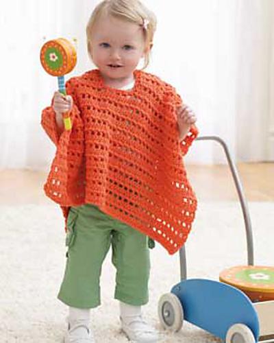 Ravelry: Baby Poncho pattern by Bernat Design Studio