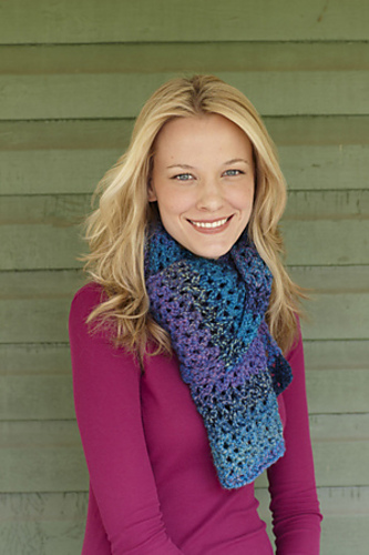 Ravelry: Shades of Blue Scarf pattern by Lion Brand Yarn