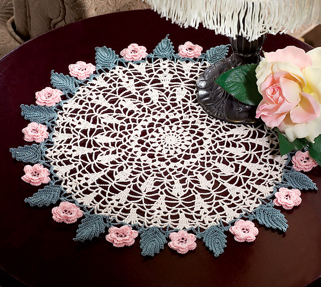 Ravelry Roses Leaves Pattern By Catherine Peiter