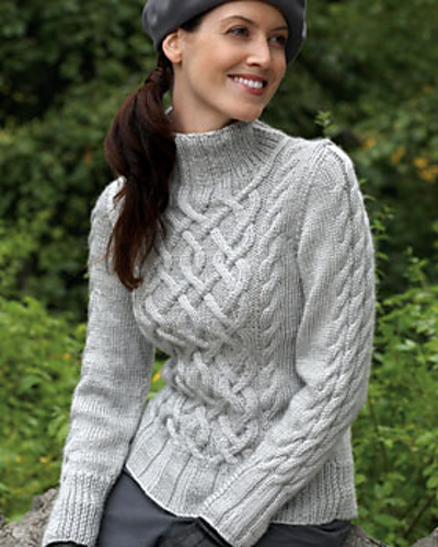 Ravelry: Sterling Cables Sweater #4 pattern by Bernat Design Studio