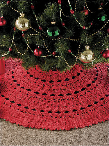 ravelry 7 hour tree skirt pattern by katherine eng