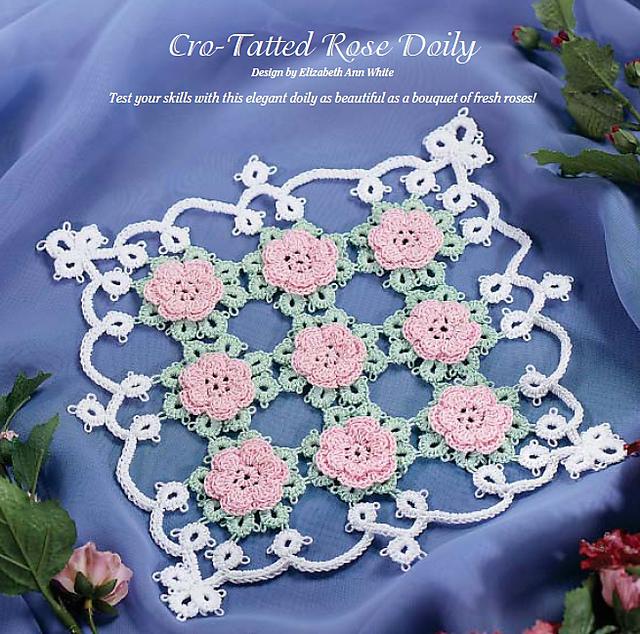 Ravelry Cro Tatted Rose Doily Pattern By Elizabeth Ann White