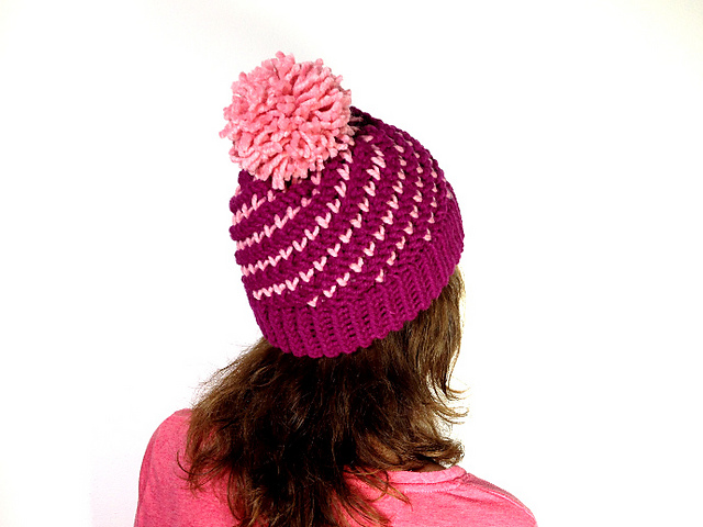 Ravelry Loom Knitted Spiral Hat Pattern By Tuteate
